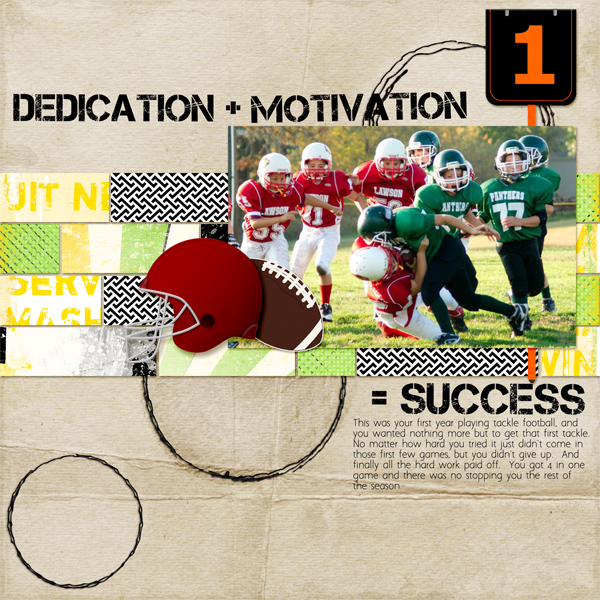 Success Layout by Angie Briggs details below