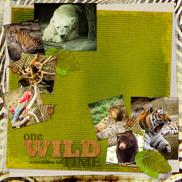One Wild Time Layout by Angie Briggs details below