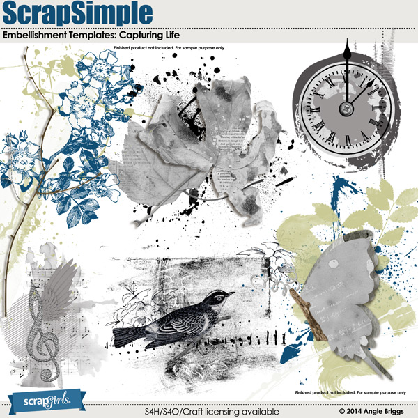 also available: ScrapSimple Embellishment Templates: Capturing Life