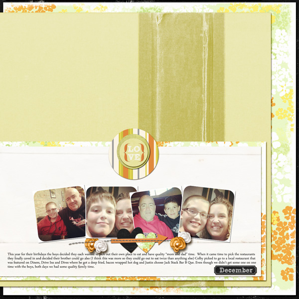 """Love"" Layout By Angie Briggs (product listed below)"