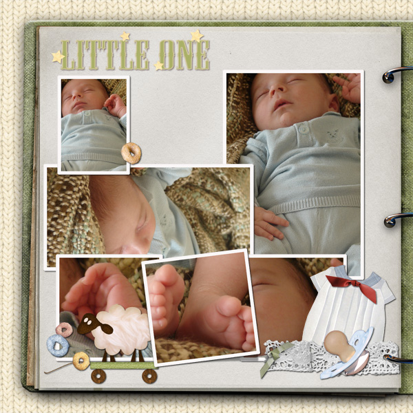 Little One layout by Angie Briggs details below