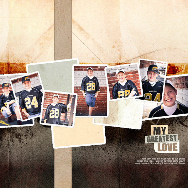 My Greatest Love layout by Angie Briggs details below