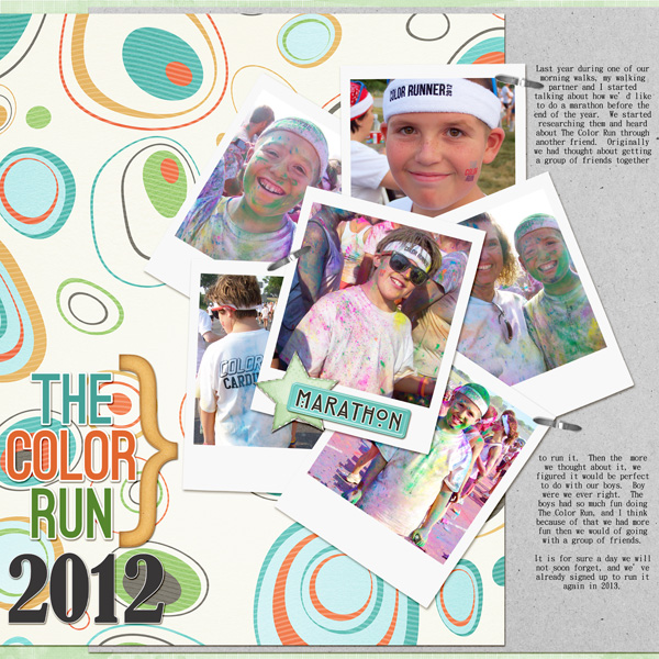 """The Color Run"" digital layout by Angie Briggs"
