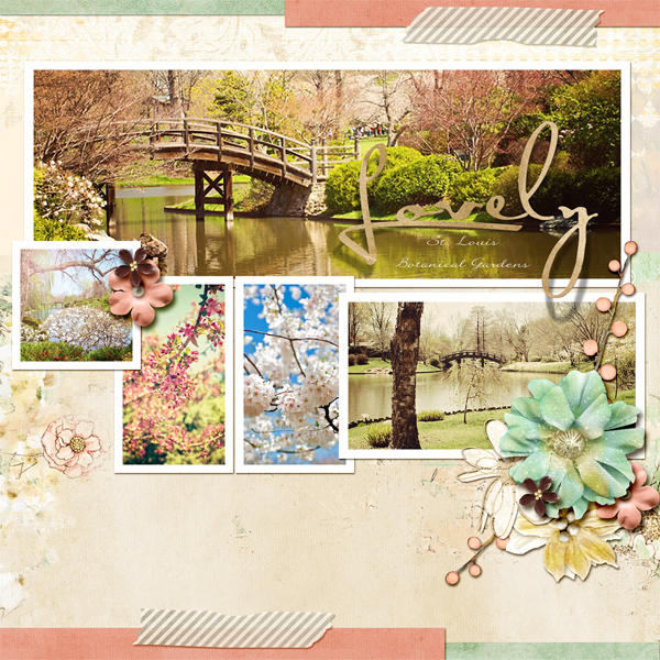 """Lovely"" digital layout by Angie Briggs"