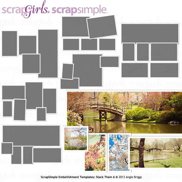ScrapSimple Embellishment Templates: Stack Them 6