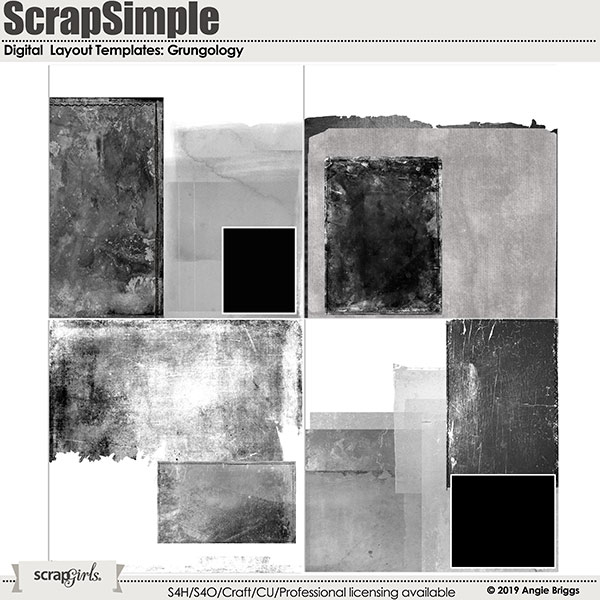 ScrapSimple Digital Layout Templates: Grungology