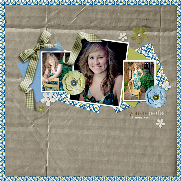 Perfect layout by Angie Briggs details below