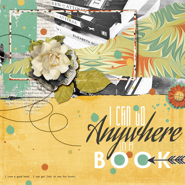 """""""Anywhere"""" an art journaling layout by Angie Briggs"""