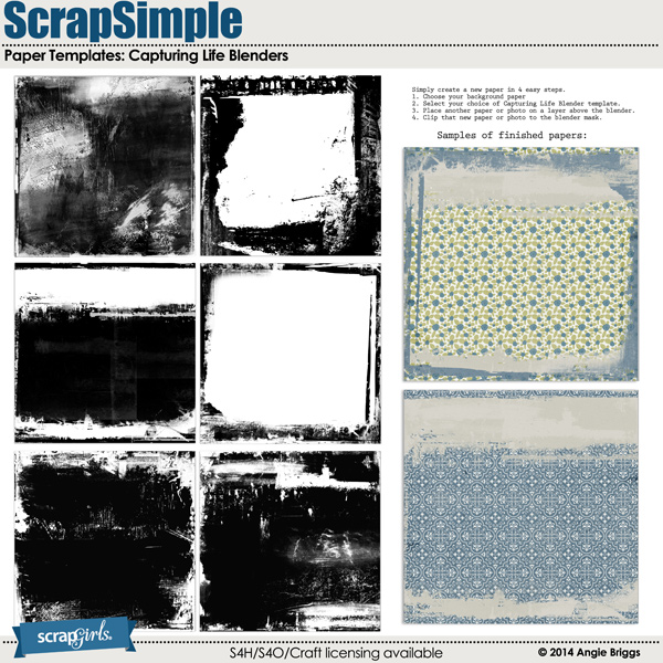 also available: ScrapSimple Paper Templates: Capturing Life Blenders
