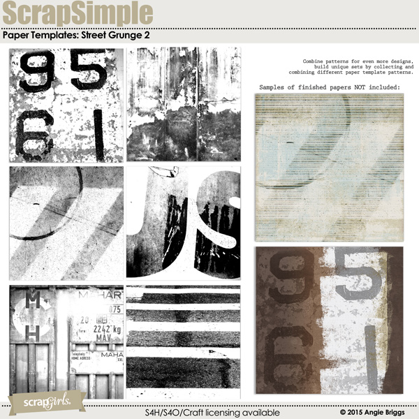also available ScrapSimple Paper: Street Grunge 2