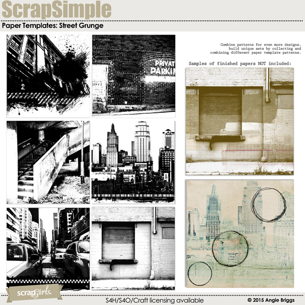 also available ScrapSimple Paper: Street Grunge