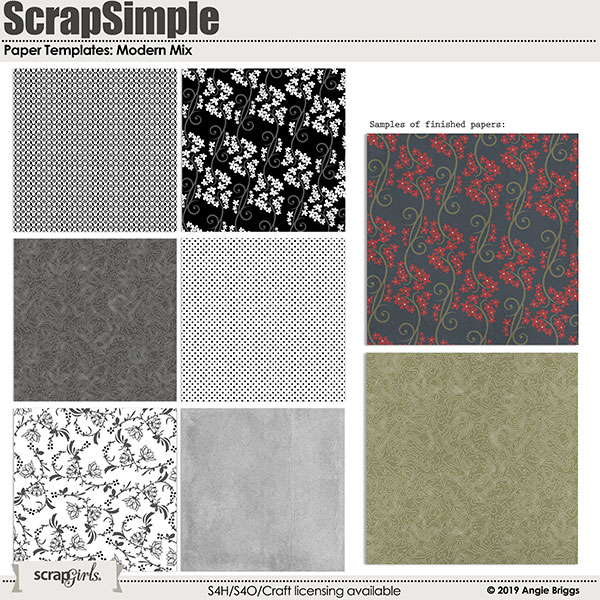 ScrapSimple Paper Templates: Modern Mix