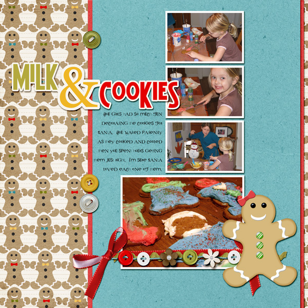 """Milk and Cookies"" layout by Angie Briggs (see details below)"
