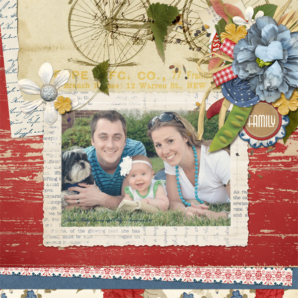 """Family"" digital layout by Angie Briggs"