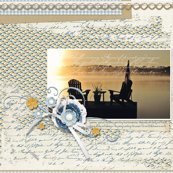 """Summer Beauty"" layout by Angie Briggs"