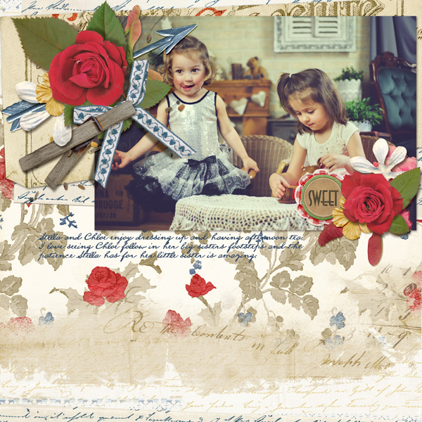 """Sweet"" digital scrapbooking layout by Angie Briggs"