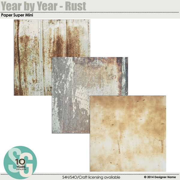 Year By Year - Rust Paper Super Mini