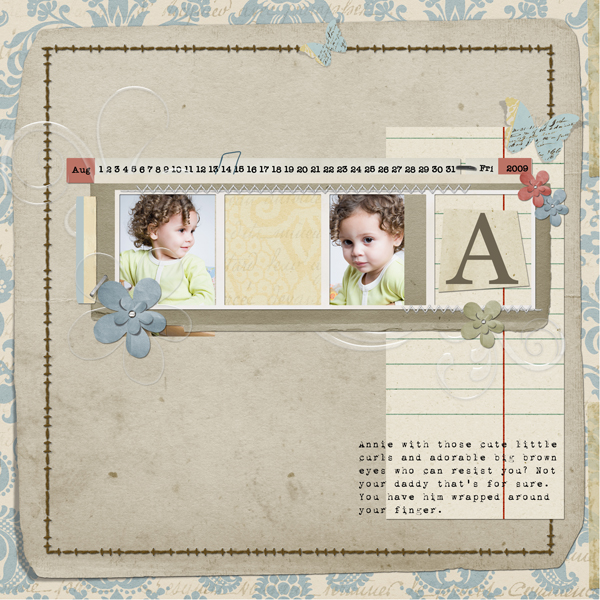 Layout by Angie Briggs includes You Are Collection Biggie