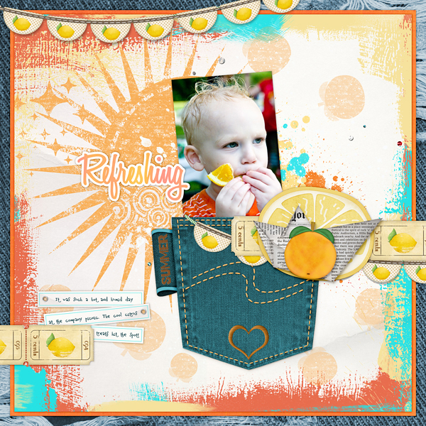 Joy layout using Paper Borders