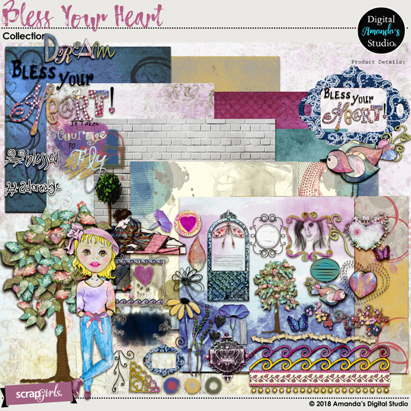 Bless Your Heart Art Journal Collection