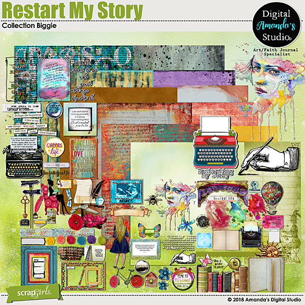 Restart My Story Faith Journal Collection Biggie by Altered Amanda's Studio