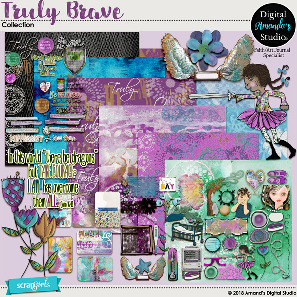 Truly Brave Collection by Amanda's Digital Studio