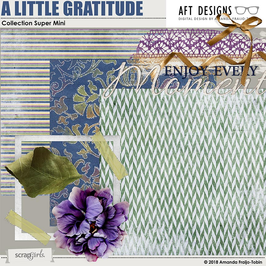 A Little Gratitude Collection Super Mini by AFT Designs - Amanda Fraijo-Tobin @ScrapGirls.com