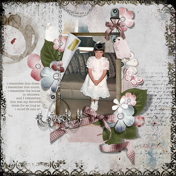 "Digital Scrapbooking Layout ""I Remember"" by Amanda Fraijo-Tobin (see supply list with links below)"