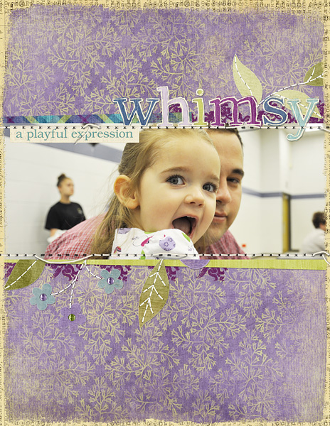 "Digital Scrapbooking Layout ""Whimsy"" by Amanda Fraijo-Tobin (see supply list with links below)"