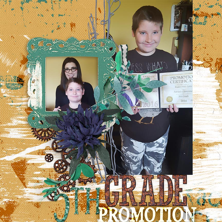 '5th Grade Promotion' #scrapbook layout by AFT Designs - Amanda Fraijo-Tobin