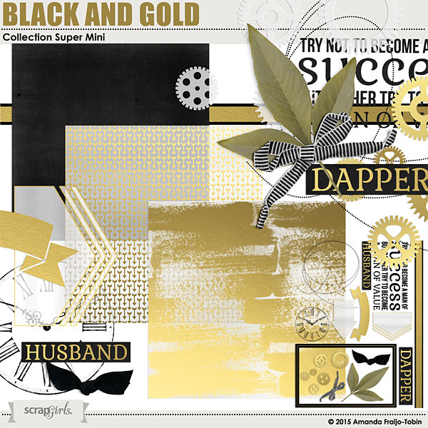"Sold Separately <a href=""http://store.scrapgirls.com/black-and-gold-collection-super-mini-p31887.php"">Black and Gold Collection Super Mini</a>"