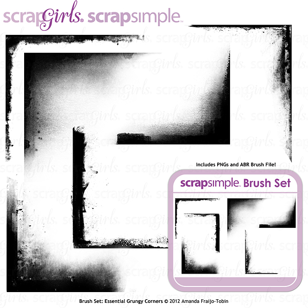 "Sold Separately <a href=""http://store.scrapgirls.com/brush-set-essential-grungy-corners-p26887.php"">Brush Set: Essential Grungy Corners</a>"