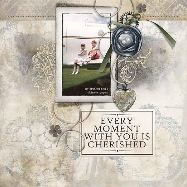 "Digital Scrapbooking Layout ""Every Moment"" by Amanda Fraijo-Tobin (see supply list with links below)"