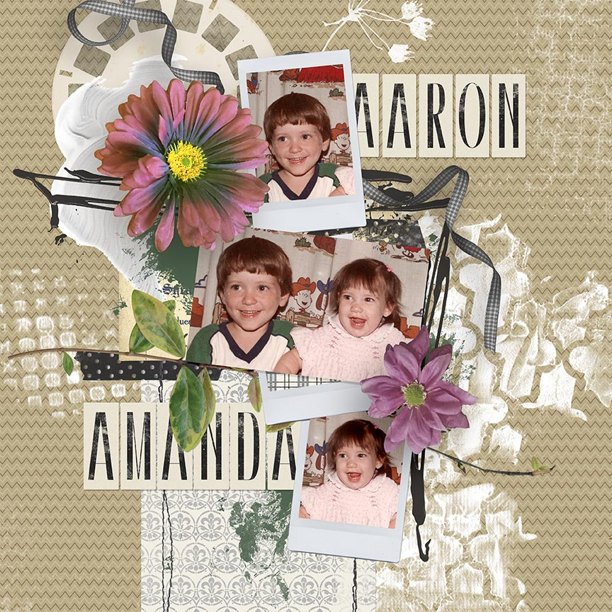 """Aaron & Amanda"" #scrapbook layout by AFT Designs - Amandas Fraijo-Tobin using Paper Templates: White Out"