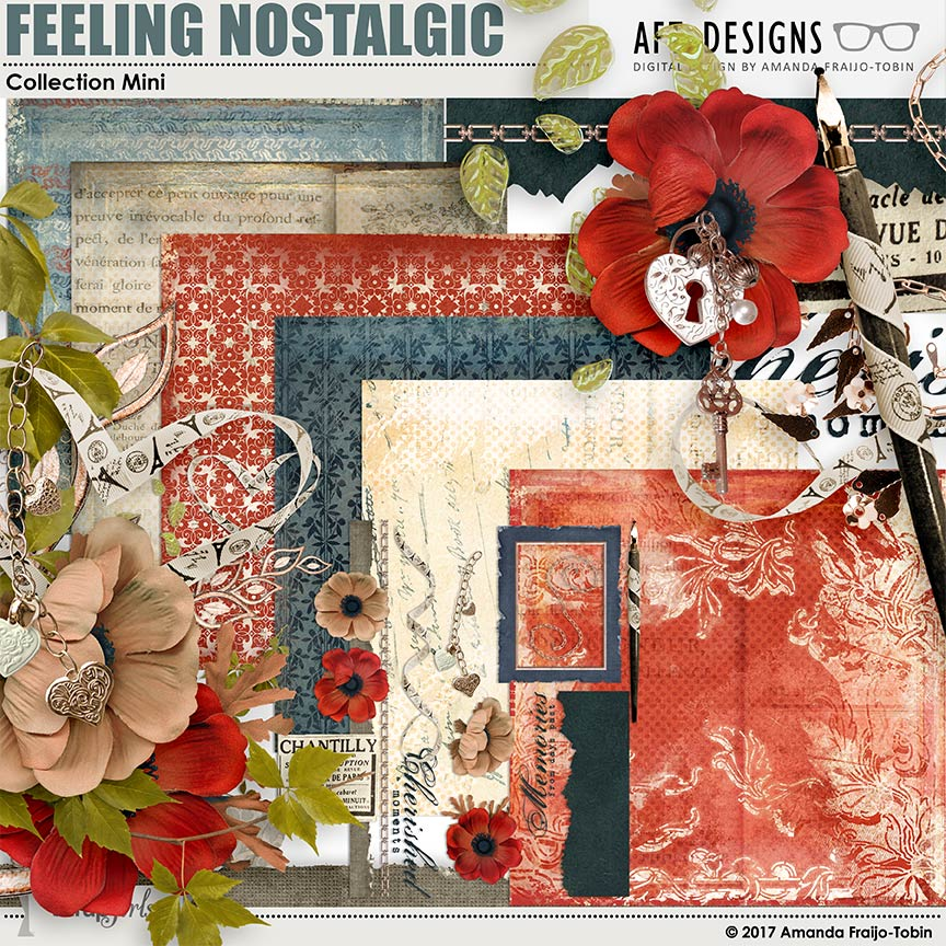 Feeling Nostalgic Digital Scrapbooking Kit by AFT Designs - Amanda Fraijo-Tobin @ScrapGirls.com #scrapgirls #digitalscrapbooking