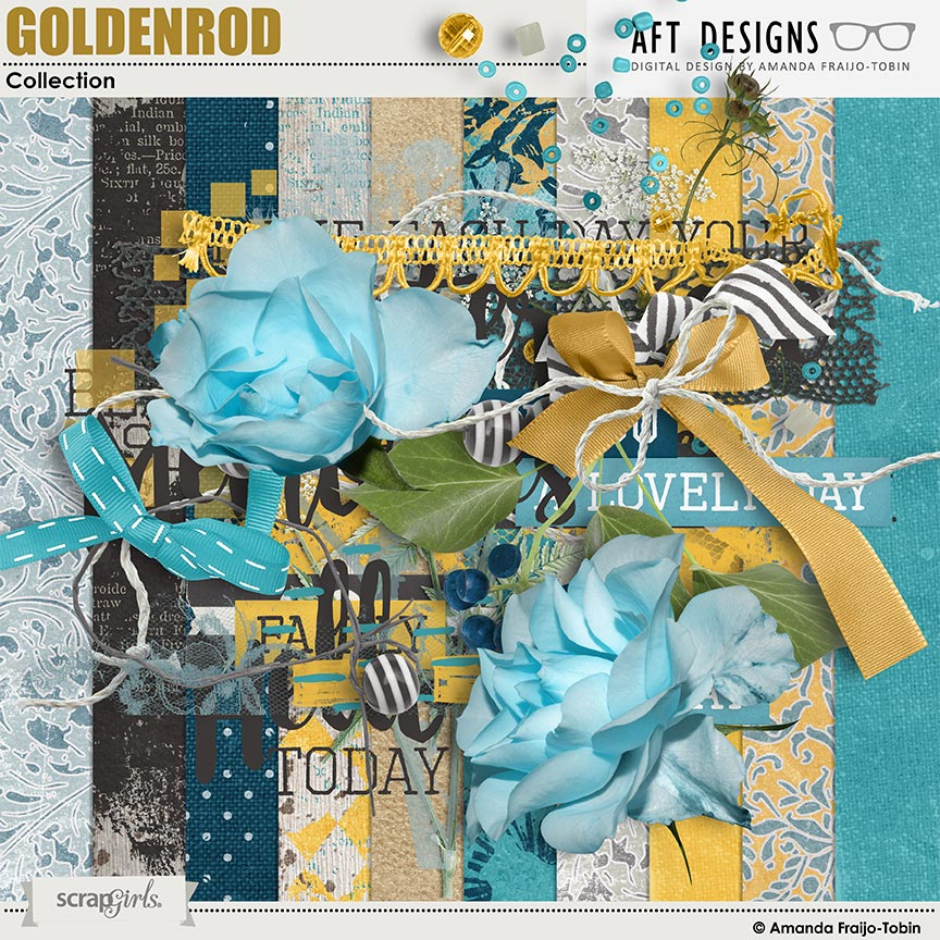Goldenrod #digitalscrapbooking Collection by AFT Designs - Amanda Fraijo-Tobin @ScrapGirls.com