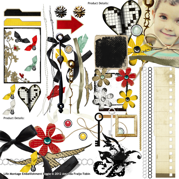 Embellishments Included In This Collection