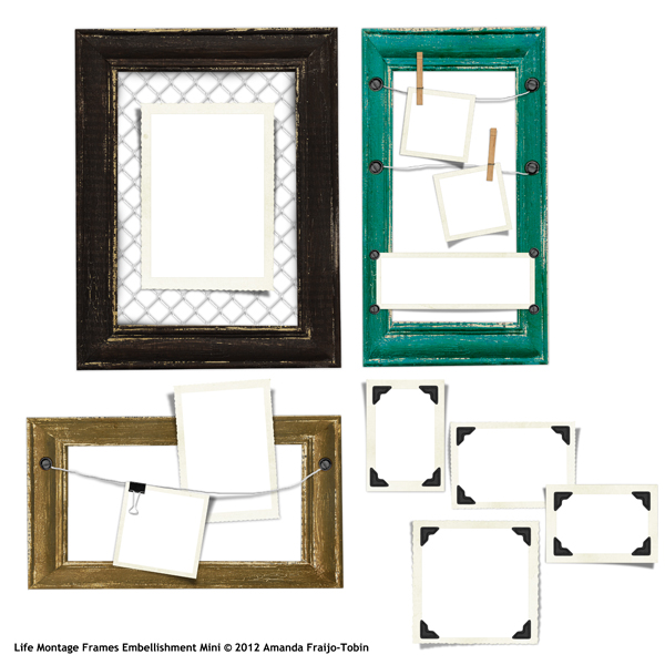 Sold Separately Life Montage Frames Embellishmet Mini (link to product below)