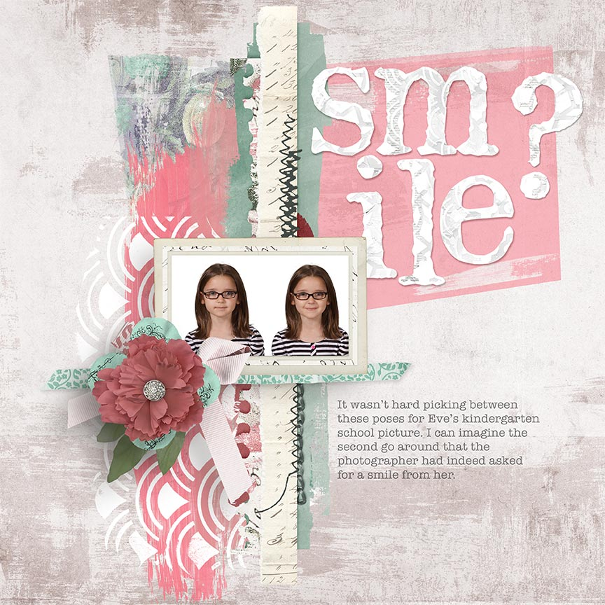 Smile? #digiscrap layout by AFT Designs - Amanda Fraijo-Tobin @ScrapGirls.com