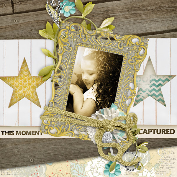 """Modern Shabby Frames used in """"This Moment Captured"""" layout"""