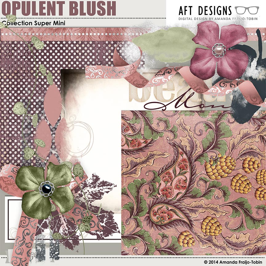 Opulent Blush Collection Super Mini AFT Designs by AFT Designs - Amanda Fraijo-Tobin @ScrapGirls.com