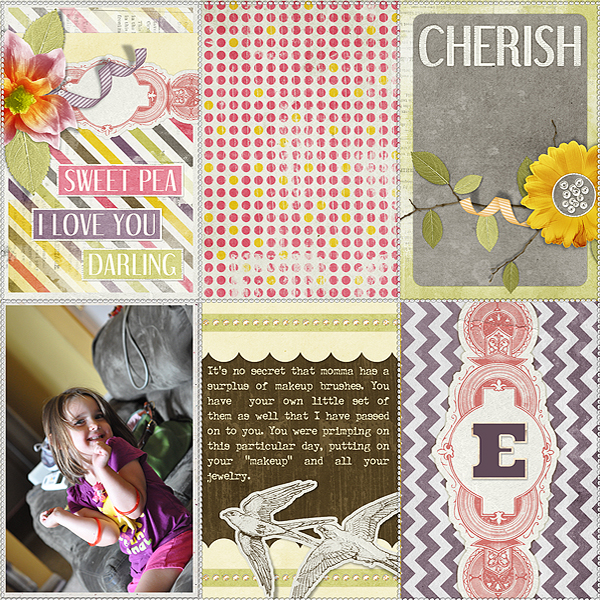 """Digital Scrapbooking Layout """"Memories With You"""" by Amanda Fraijo-Tobin (see supply list with links below)"""