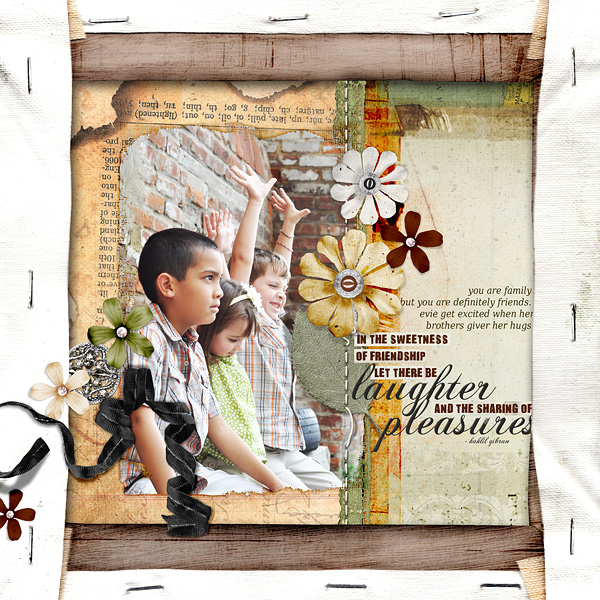 "Digital Scrapbooking Layout ""Laughter"" by Amanda Fraijo-Tobin (see supply list with links below)"