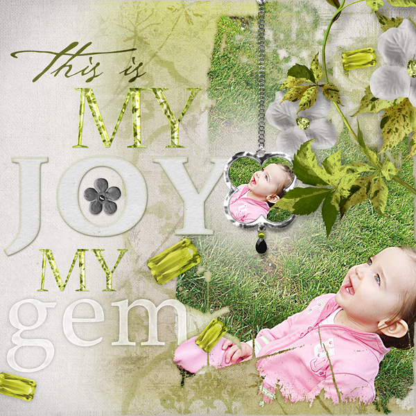 "Digital Scrapbooking Layout ""This Is My Joy"" by Amanda Fraijo-Tobin uses products listed below"
