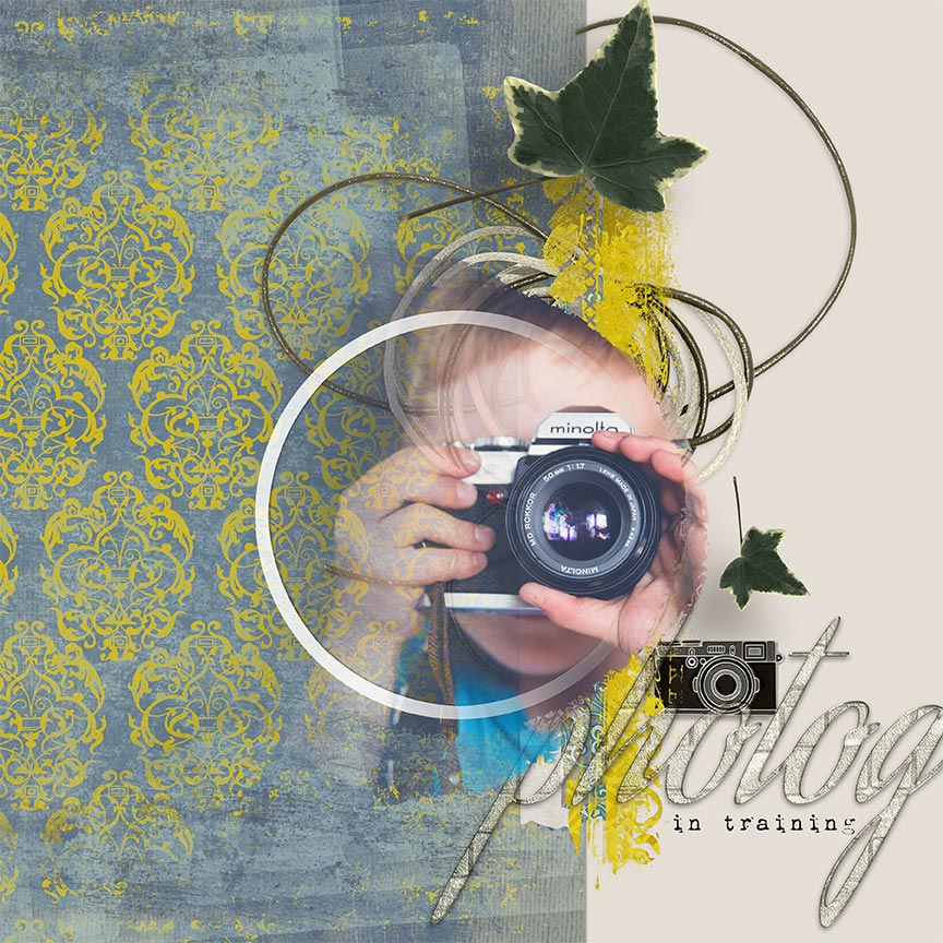 """Orchestra Beauty"" digital scrapbooking layout uses Poise #printable digital scrapbooking paper by Amanda Fraijo-Tobin"