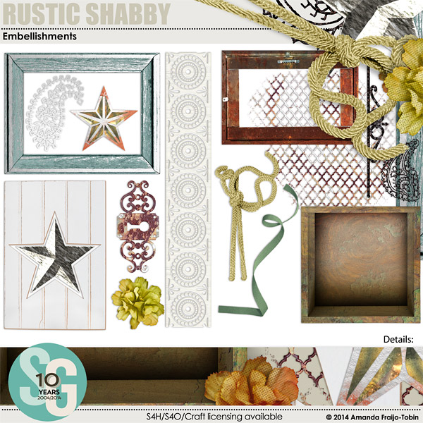 "Sold Seperately <a href=""http://store.scrapgirls.com/rustic-shabby-embellishment-mini-p31304.php"">Rustic Shabby Embellishment Mini</a>"