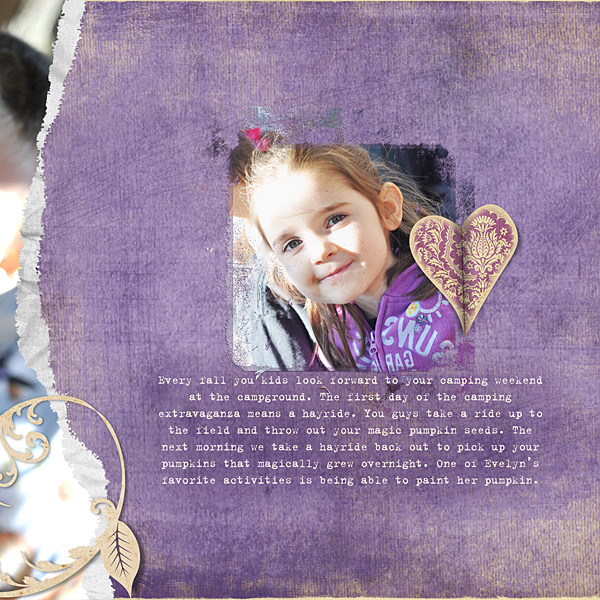 "Digital Scrapbooking Layout ""Magical Fall Memories"" by Amanda Fraijo-Tobin (see supply list with links below)"
