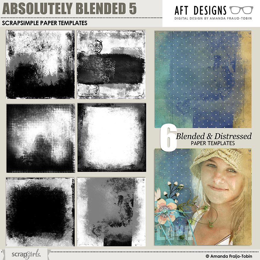 ScrapSimple Paper Templates: Absolutely Blended 05 by AFT Designs - Amanda Fraijo-Tobin @ScrapGirls.com