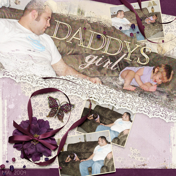 "Blended Layout ""Daddys Girl"" using Absolutely Blended Paper Templates by Amanda Fraijo-Tobin"