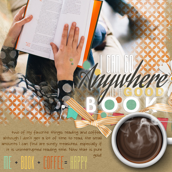 """In a good Book"" layout by Amanda Fraijo-Tobin (supplies listed below)"